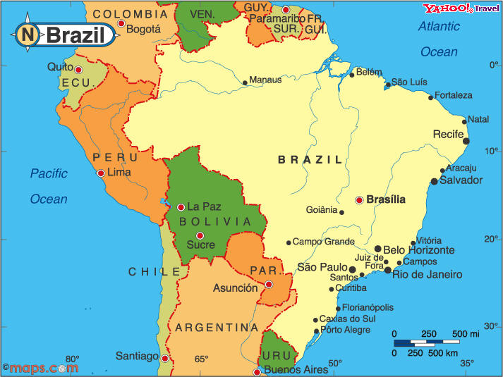 brazil_map_capital_major_city_scale_miles_km